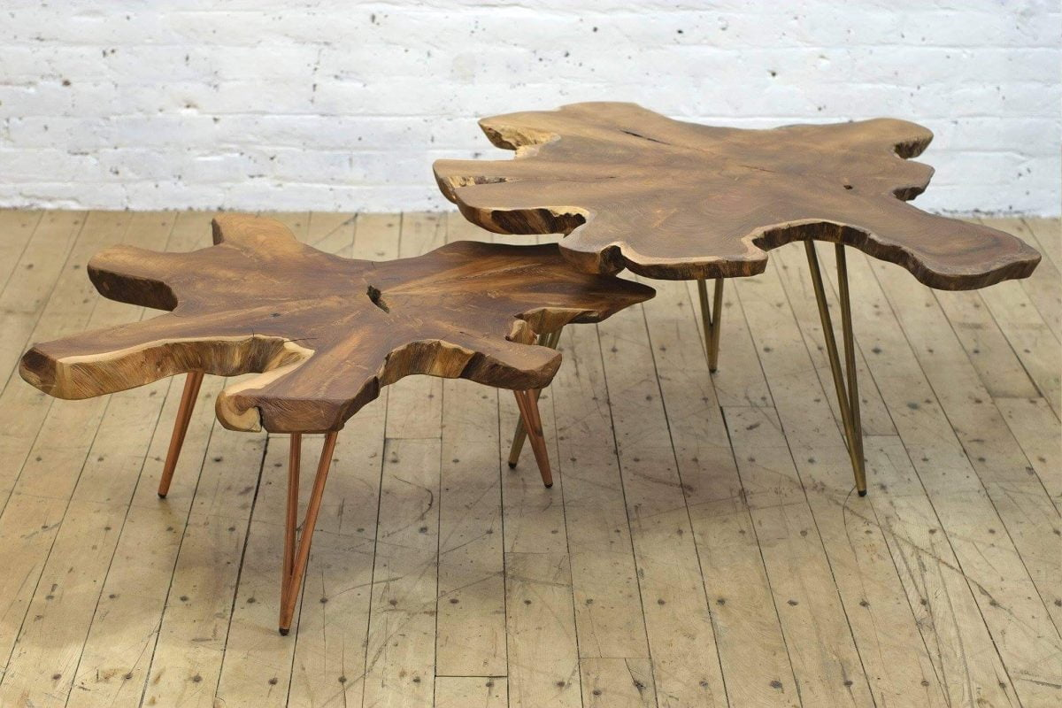 Shop Home and Kids From the Source Sustainable Furnishing Two Coffee Tables