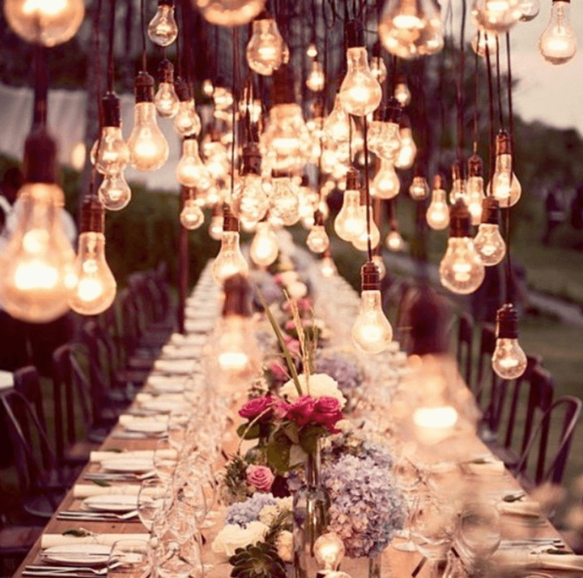 Shop Home and Kids Just Bulbs Wedding Table