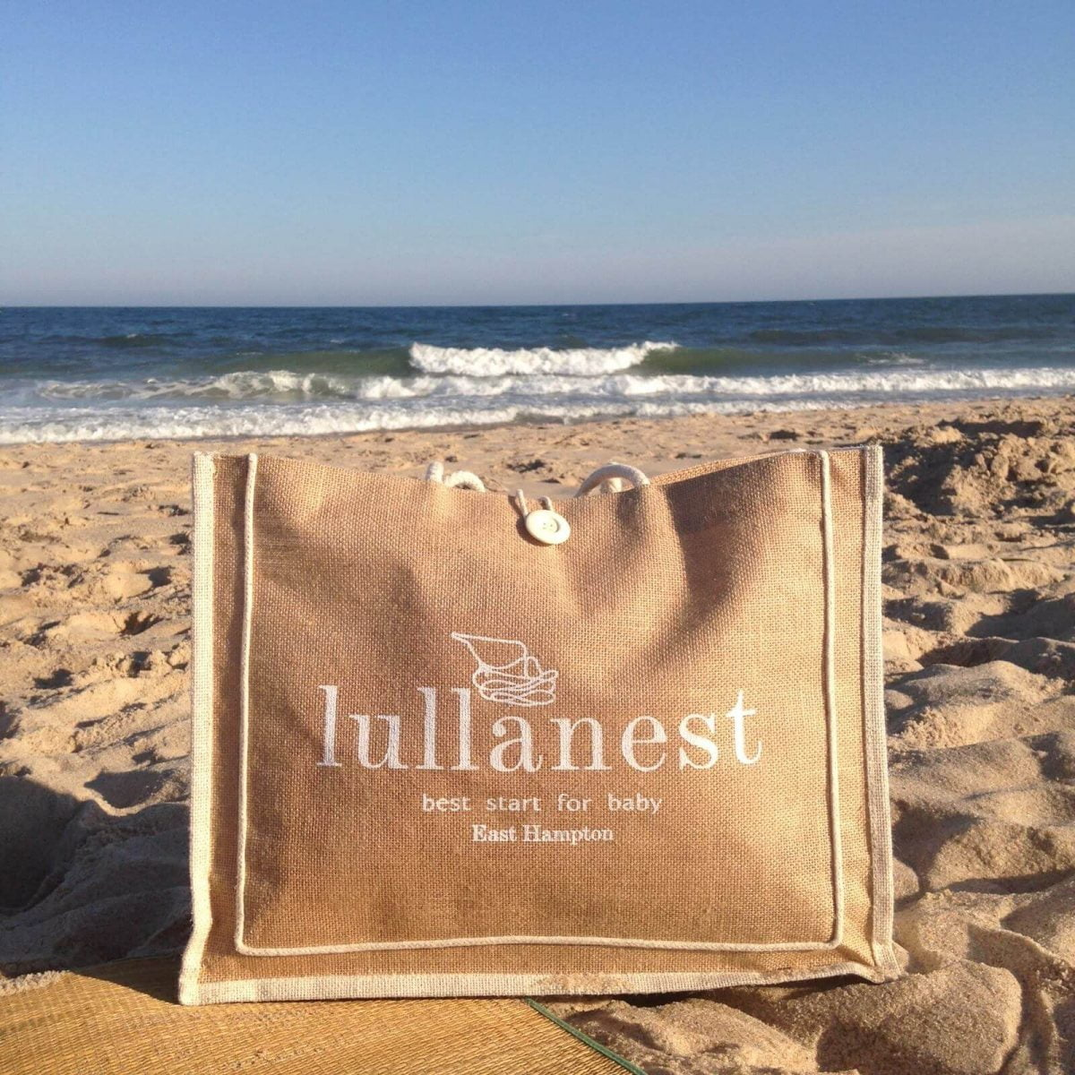 Shop Home and Kids Lullanest Baby Shopping Hamptons Beach Bag