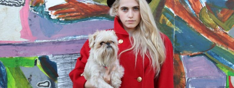 Shop Ladies Antoinette Brooklyn Vintage Red Coat