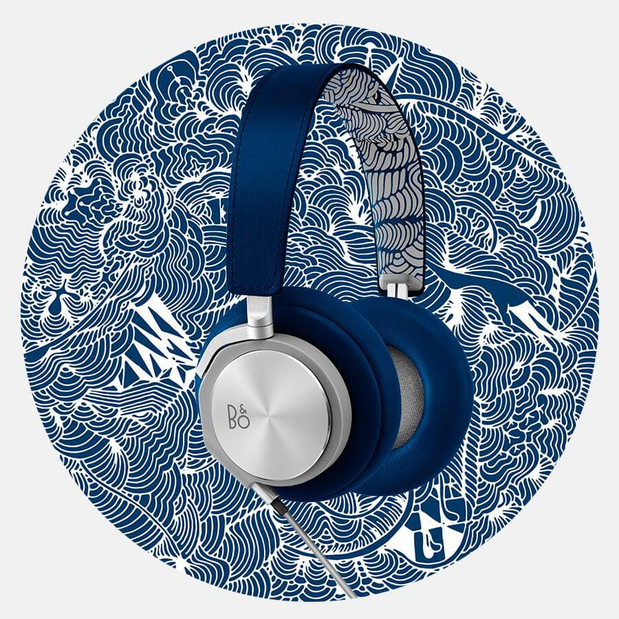 Shop Ladies and Gents Bang and Olufsen Blue Earphone