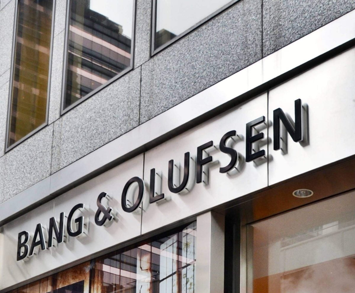 Shop Ladies and Gents Bang and Olufsen Façade