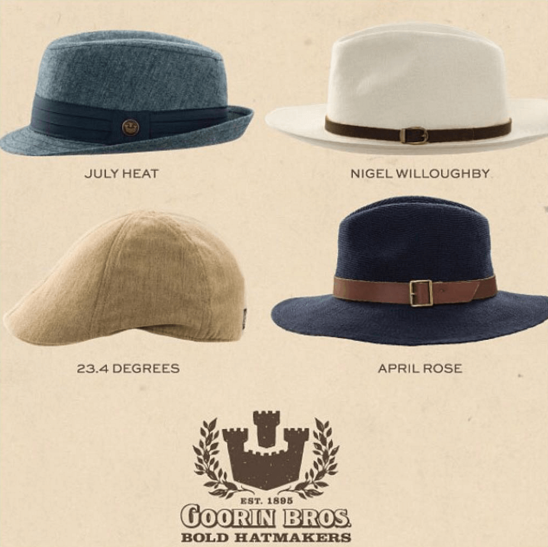 Shop Ladies and Gents Goorin Bros Hat Styles