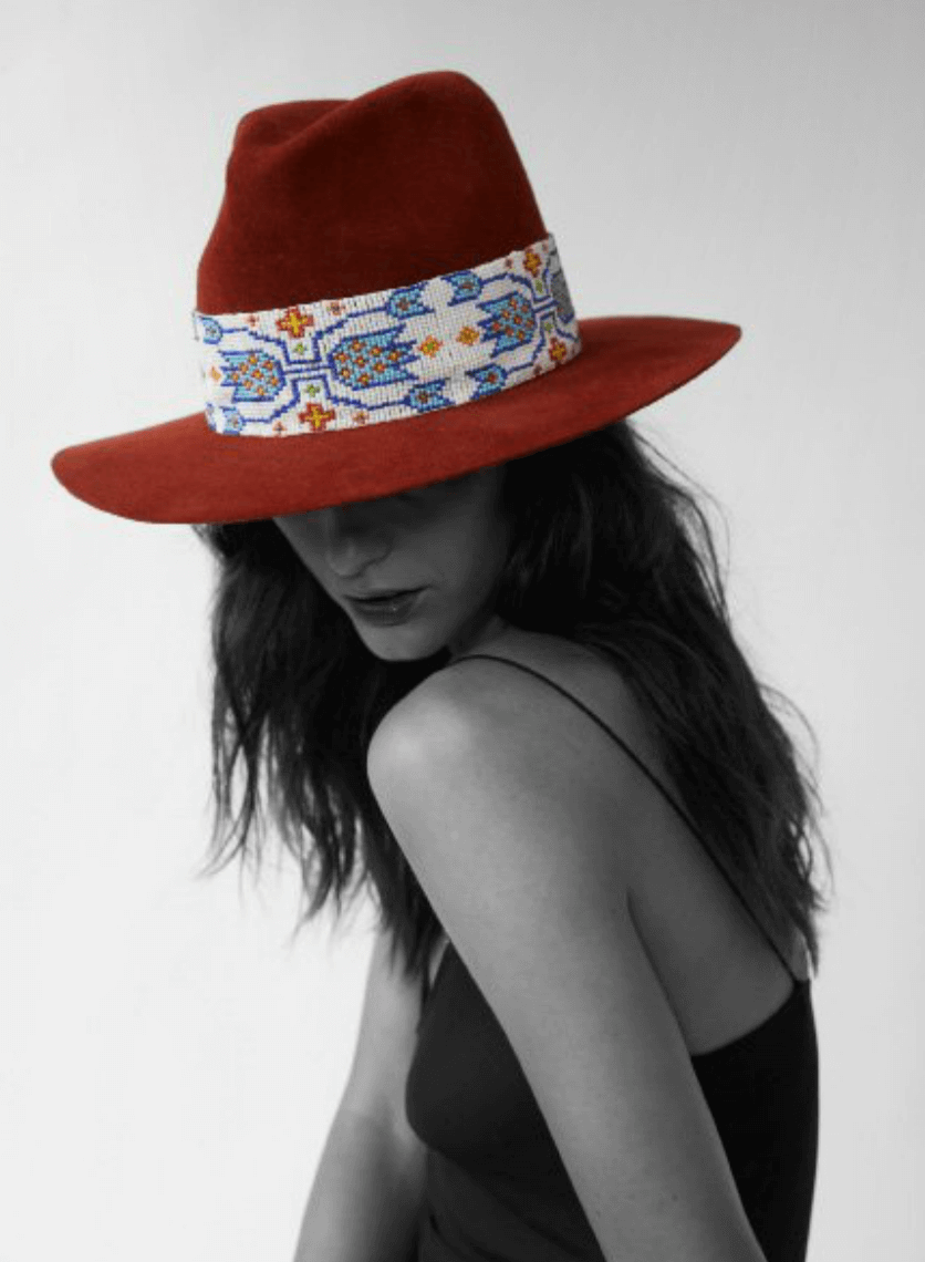 Shop Ladies and Gents Satya Twena Custom Made Hats Red Print