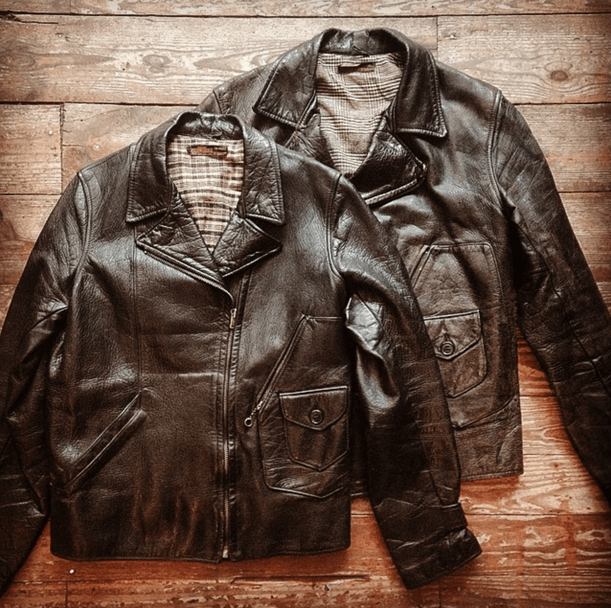 Shop Ladies and Gents Stock Vintage Leather Jackets