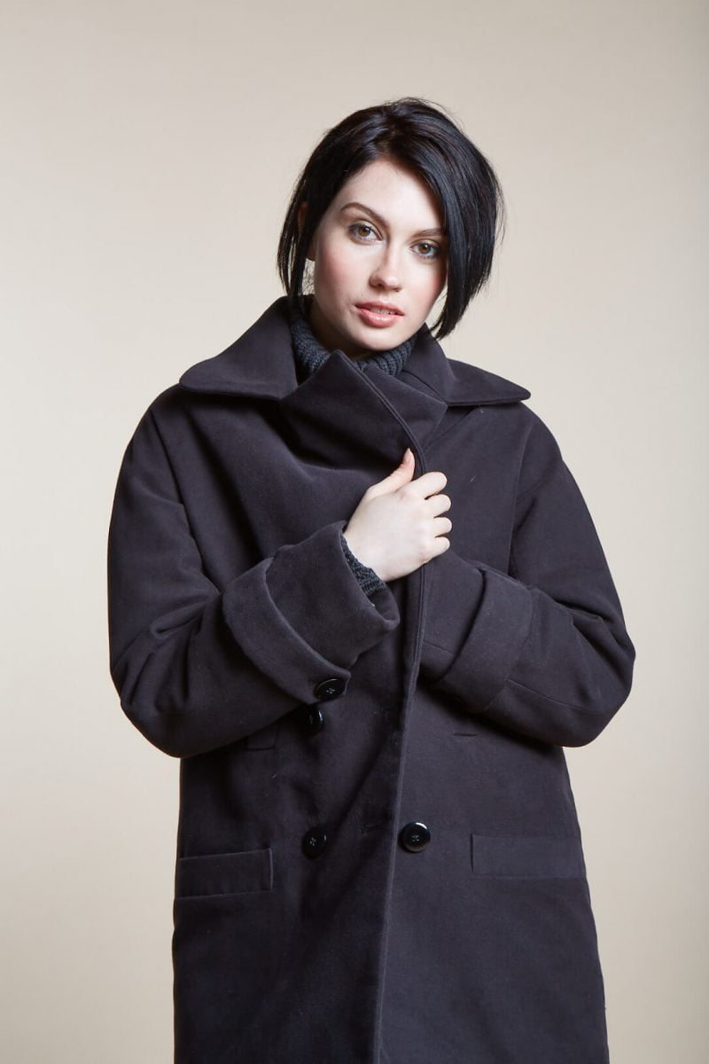 Shop Ladies and Gents Vaute Vegan Fashion Black Coat