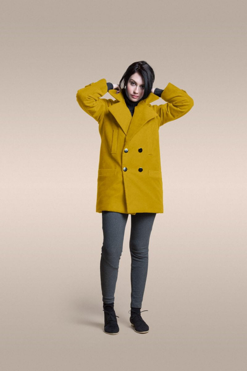 Shop Ladies and Gents Vaute Vegan Fashion Yellow Coat