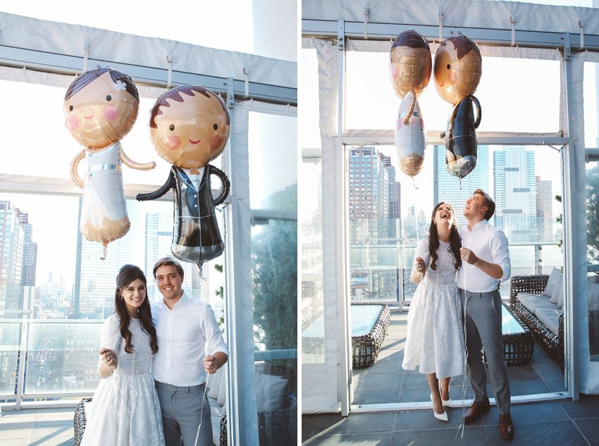 Shop NYC Wedding Fernanda Camoes Press Lounge Balloons