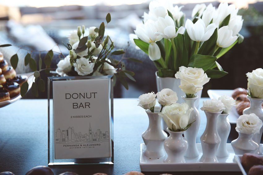 Shop NYC Wedding Fernanda Camoes Press Lounge Donut Bar
