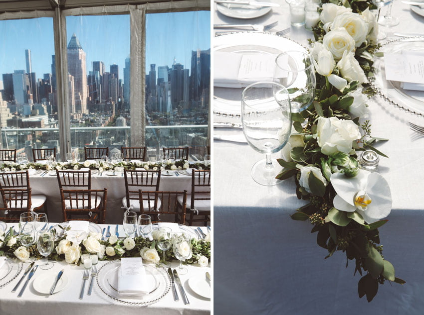 Shop NYC Wedding Fernanda Camoes Press Lounge Flower Details