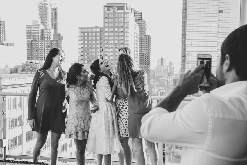 Shop NYC Wedding Fernanda Camoes Press Lounge Laugh with Girls