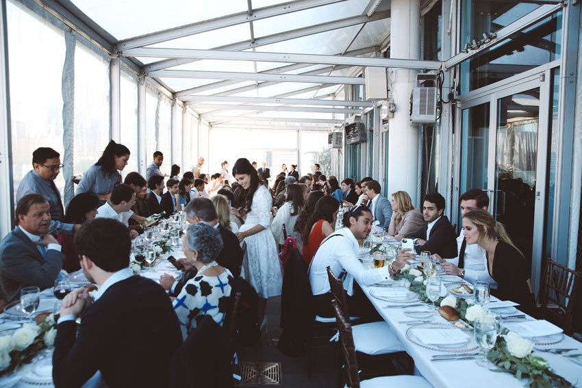 Shop NYC Wedding Fernanda Camoes Press Lounge Long Tables
