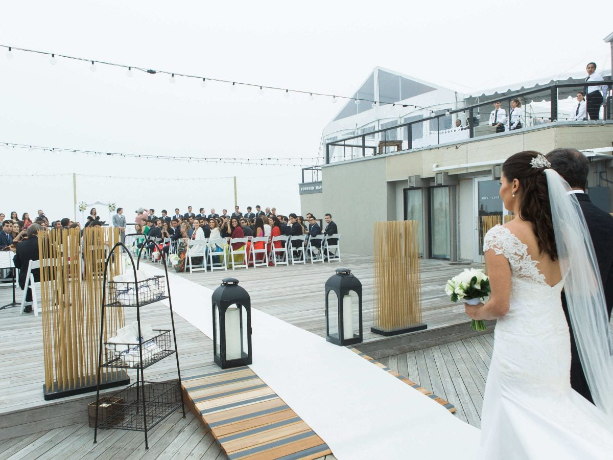 Shop NYC Wedding Kamila Almeida Gurneys Montauk Bride Walking In