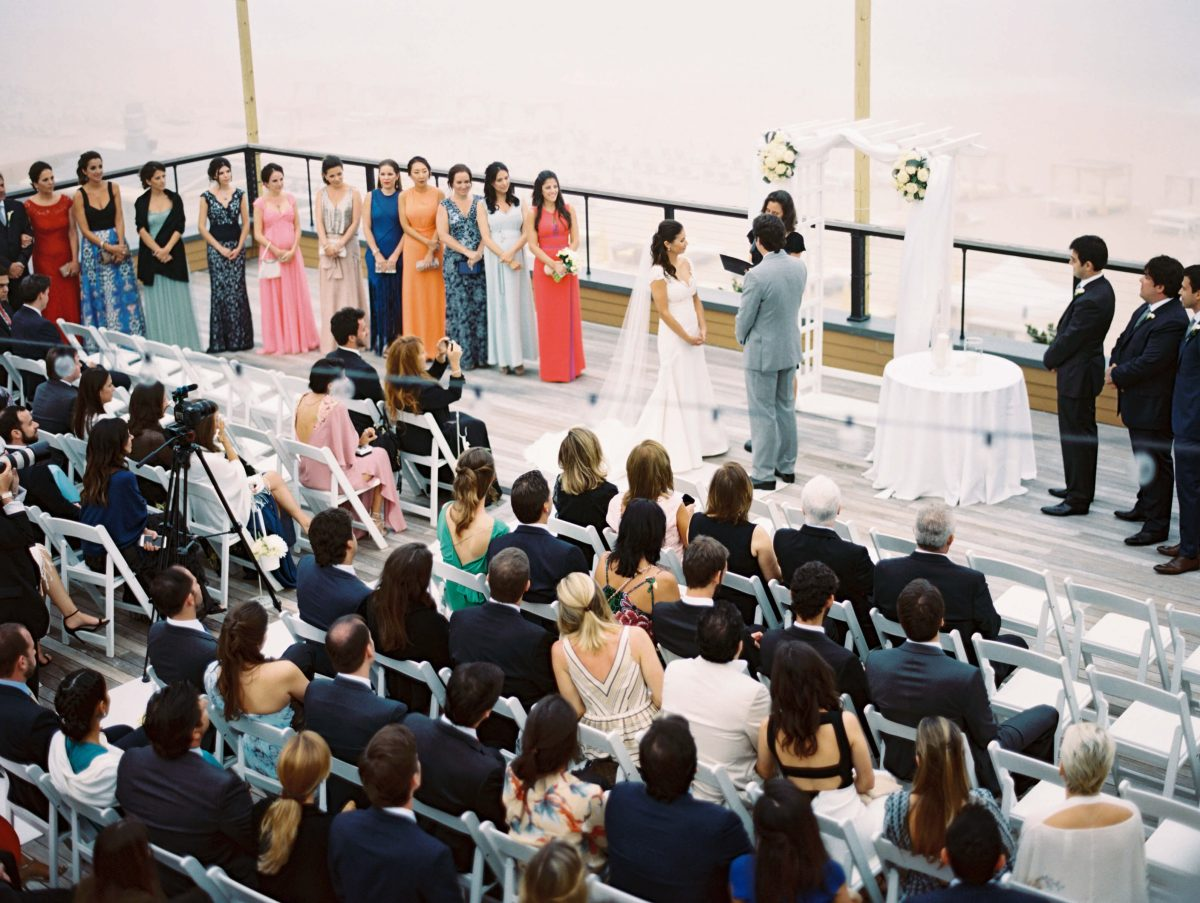 Shop NYC Wedding Kamila Almeida Gurneys Montauk Ceremony Guests