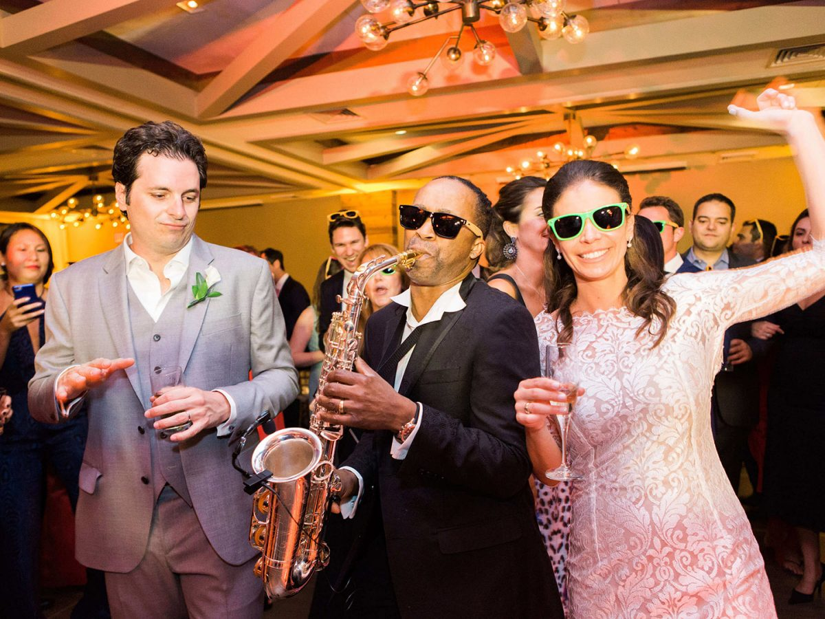Shop NYC Wedding Kamila Almeida Gurneys Montauk Couple Sax Music