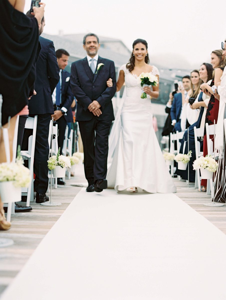 Shop NYC Wedding Kamila Almeida Gurneys Montauk Walking Down the Isle