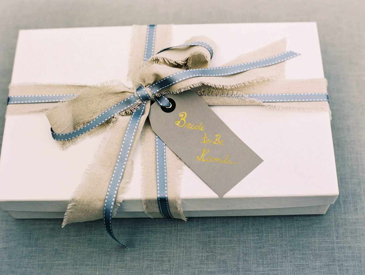 Shop NYC Wedding Kamila Almeida Gurneys Montauk Wrapped Gift