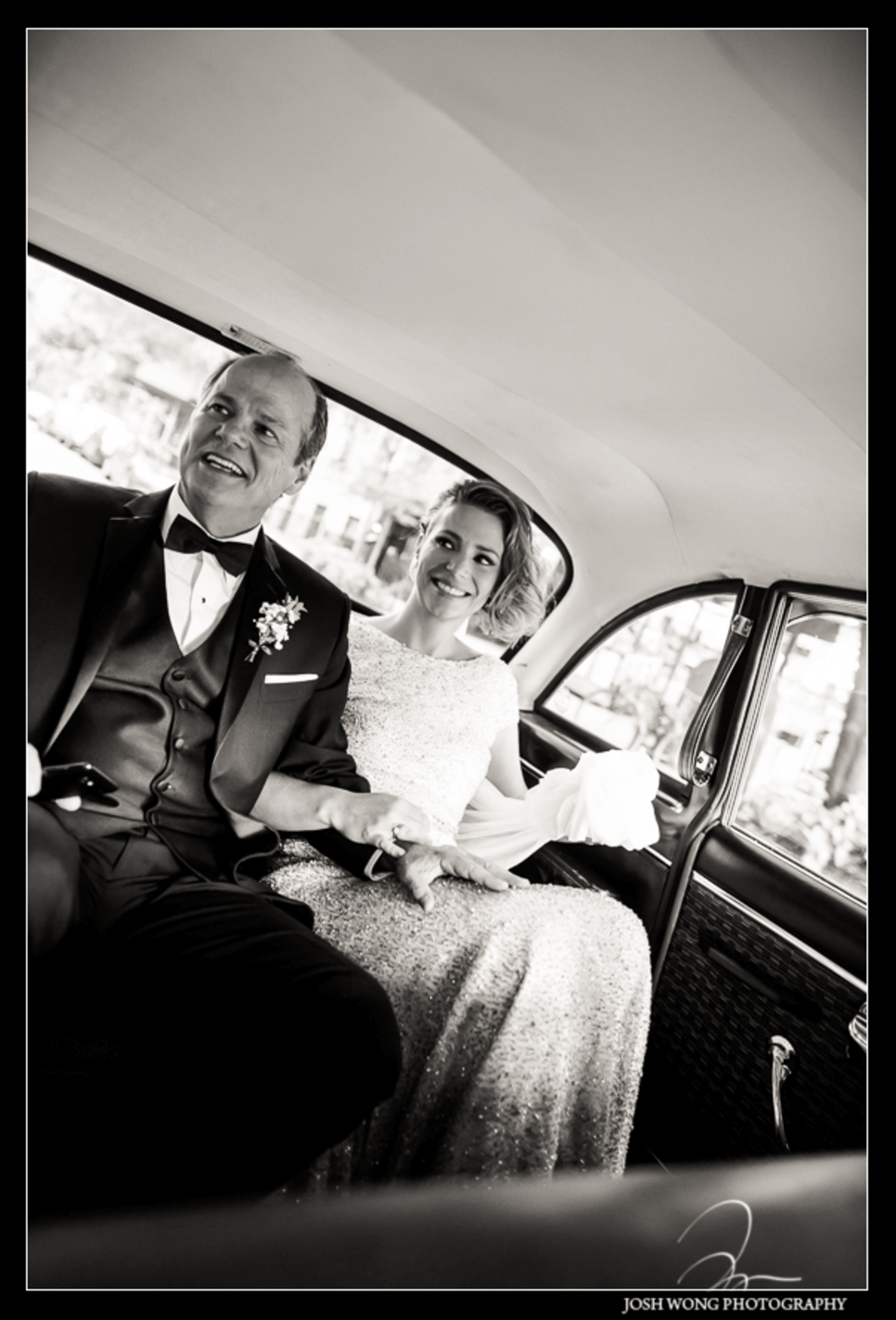 Shop NYC Weddings Martina Campos Cedar Lake Car with Dad