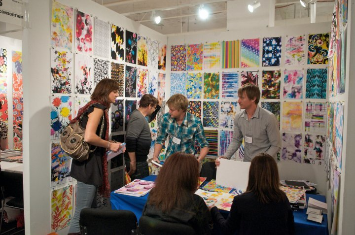 Shop Specialties Print Souce NY Fabric Textile Fair Guests
