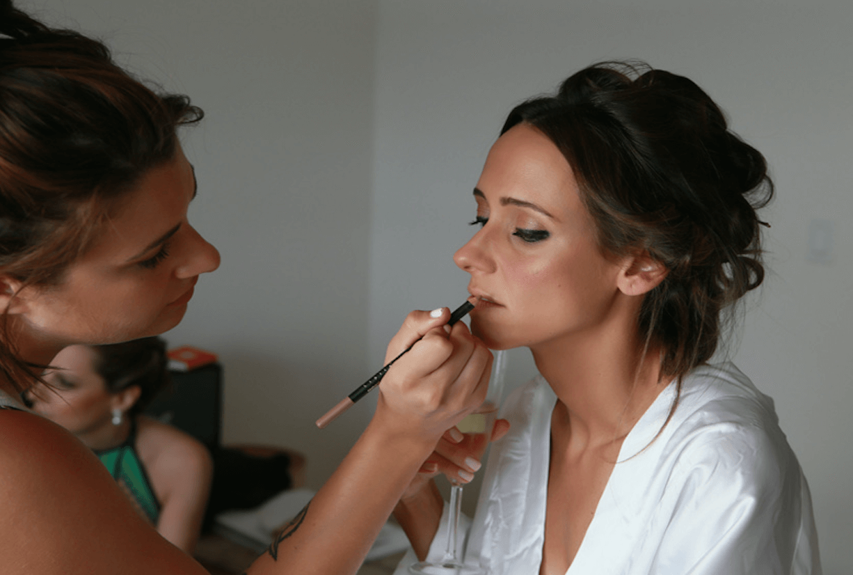 Shop Weddings Help Bride NYC Wedding Planner Fernanda Monfrinatti Make Up