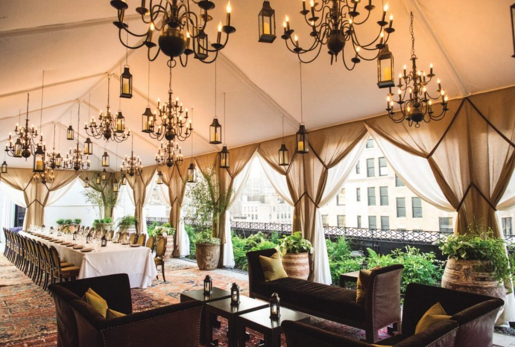Shop Weddings Paula Merlo Rooftop of The NoMad Hotel