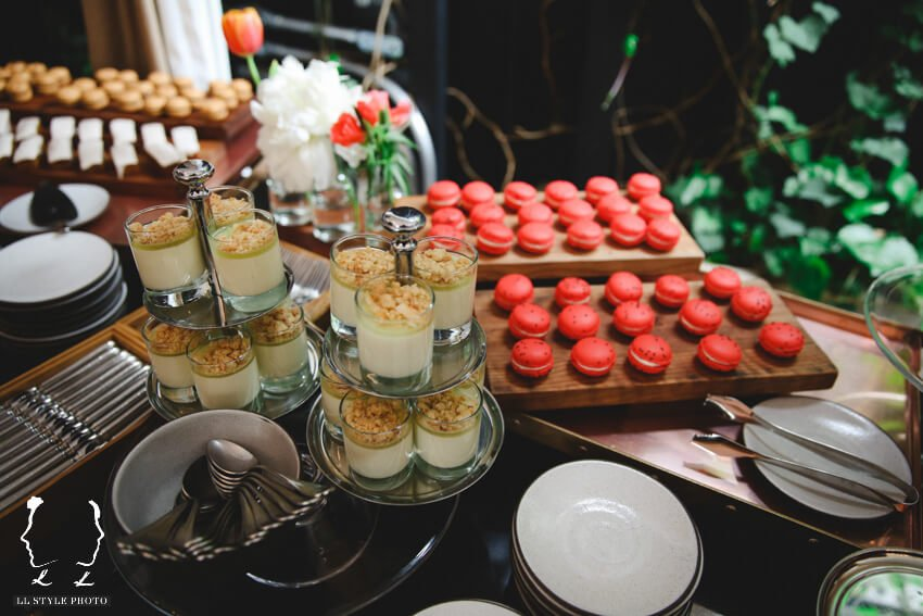 Shop Weddings Paula Merlo Rooftop of The NoMad Hotel Desserts