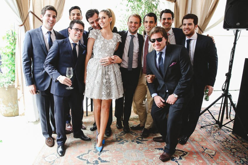 Shop Weddings Paula Merlo Rooftop of The NoMad Hotel with Bestmen