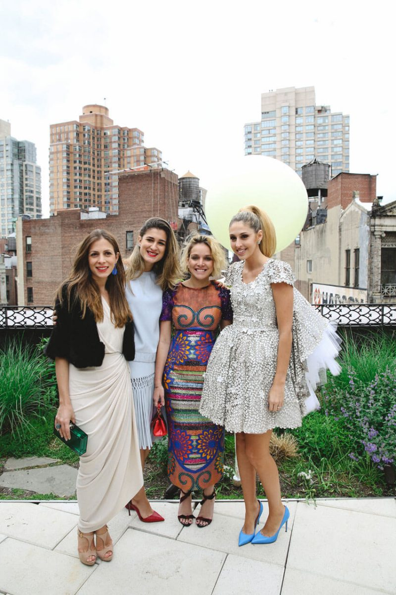 Shop Weddings Paula Merlo Rooftop of The NoMad Hotel with Girls
