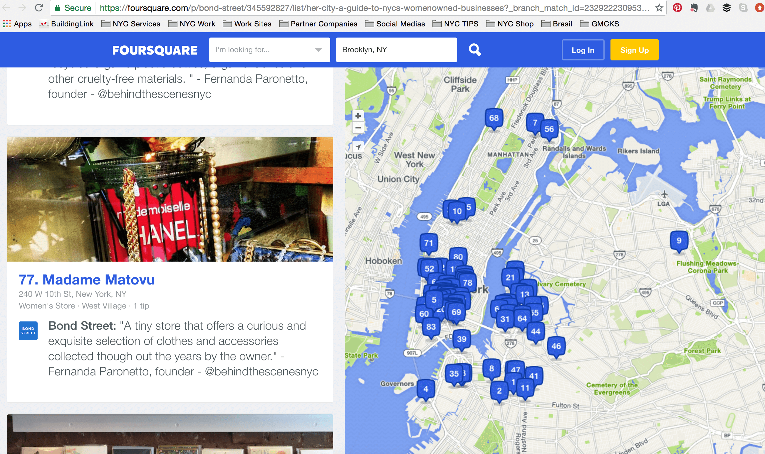 About BTSNYC What The Press Says About BTSNYC Four Square On Bond Street