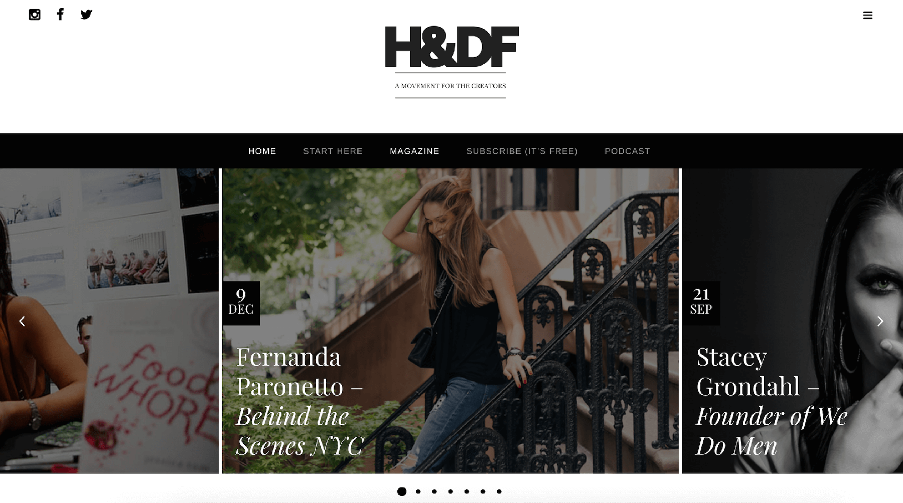 About BTSNYC What The Press Says Hustle and Deal Flow Magazine Fernanda Paronetto