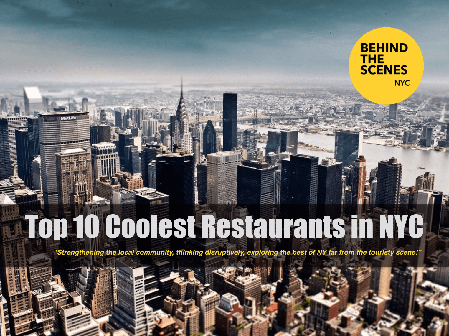 Shop NYC Gifts Top 10 Coolest Restaurants in NYC. New York ...