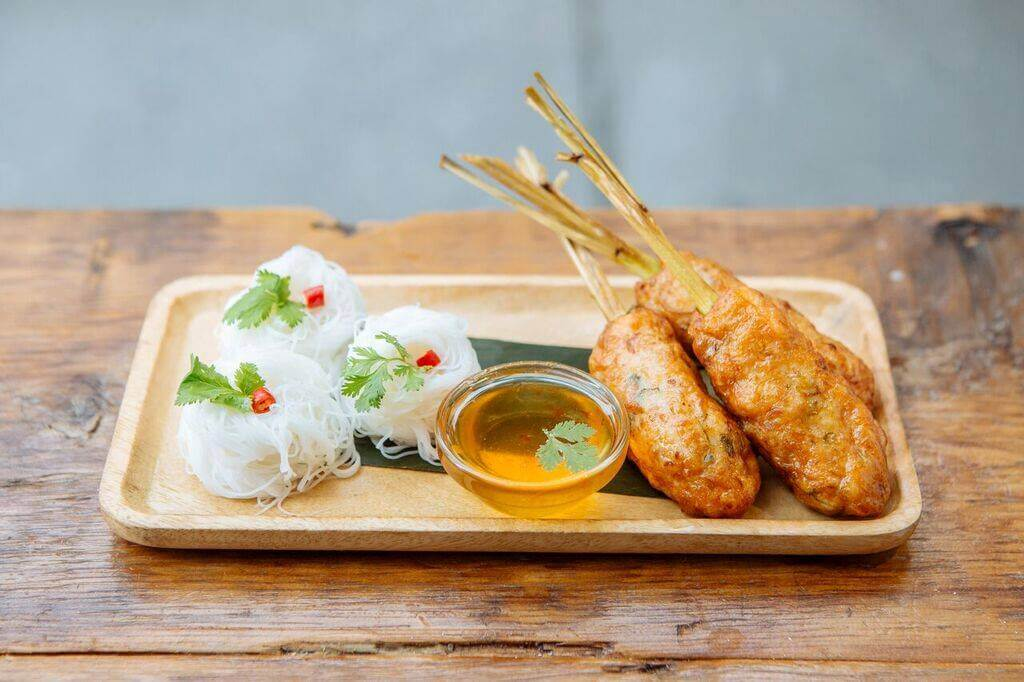Curiosities Insider Interviews Kristen Kellogg Kiin Thai Eatery Shrimp Lemongrass Skewers