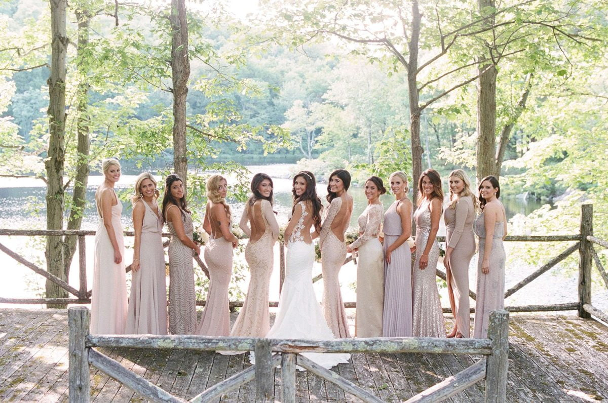 Shop Upstate NY Wedding Stephanie Karvellas Bridesmaid Lake