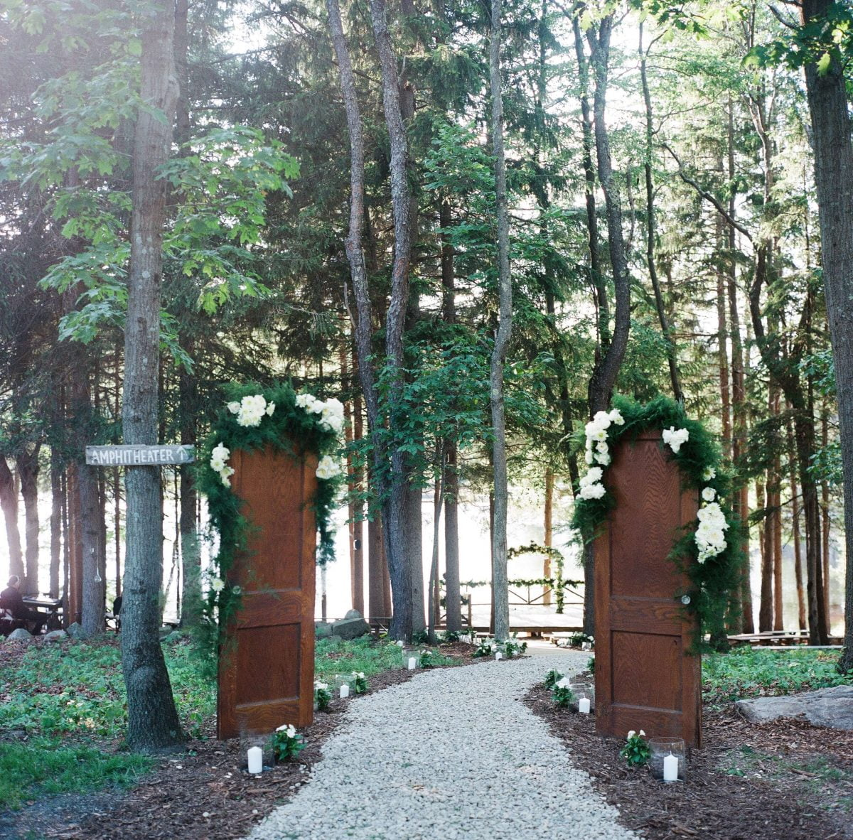 Shop Upstate NY Wedding Stephanie Karvellas Ceremony Entrance