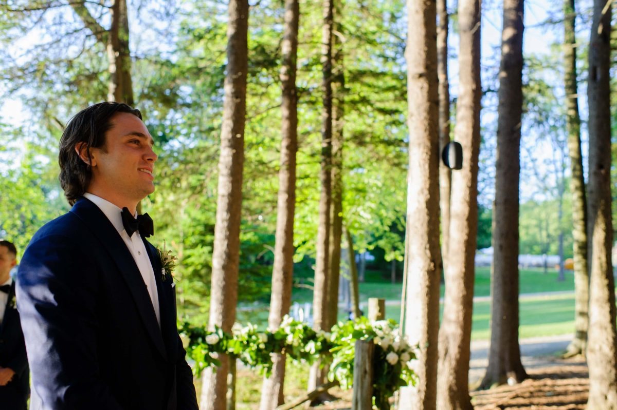 Shop Upstate NY Wedding Stephanie Karvellas Ceremony Groom