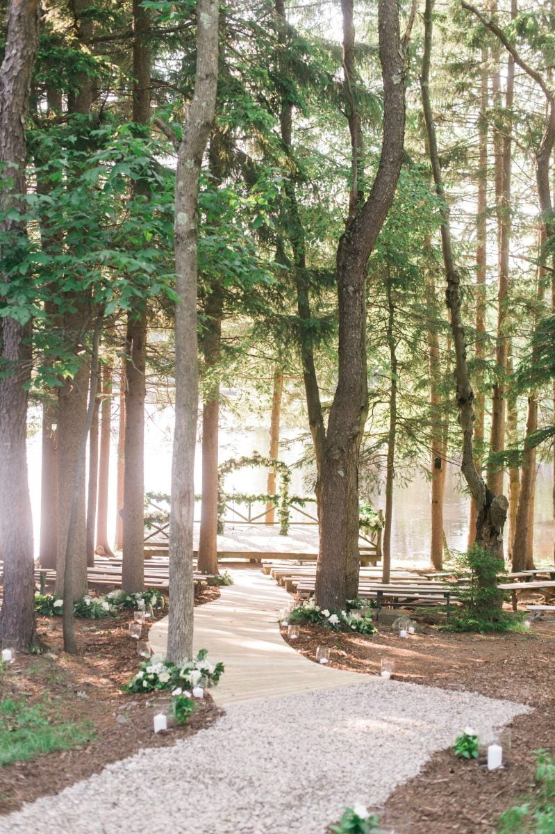 Shop Upstate NY Wedding Stephanie Karvellas Ceremony Path