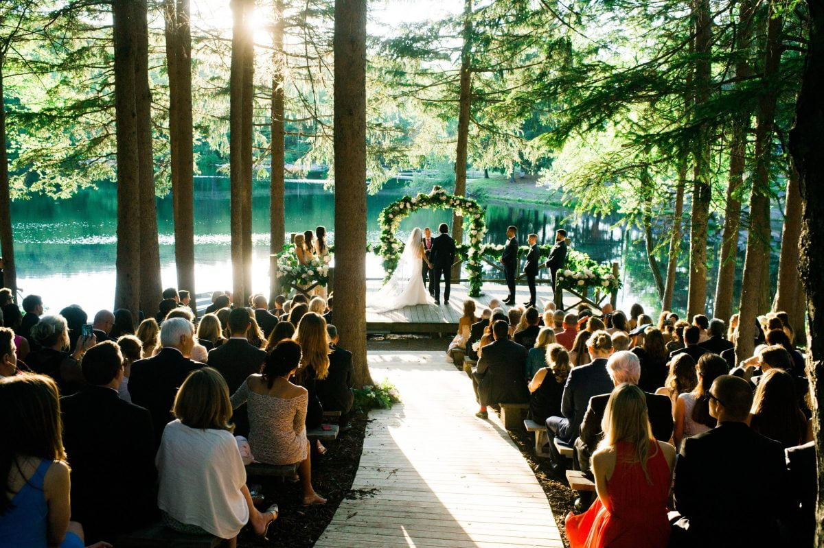 Shop Upstate NY Wedding Stephanie Karvellas Ceremony Seating