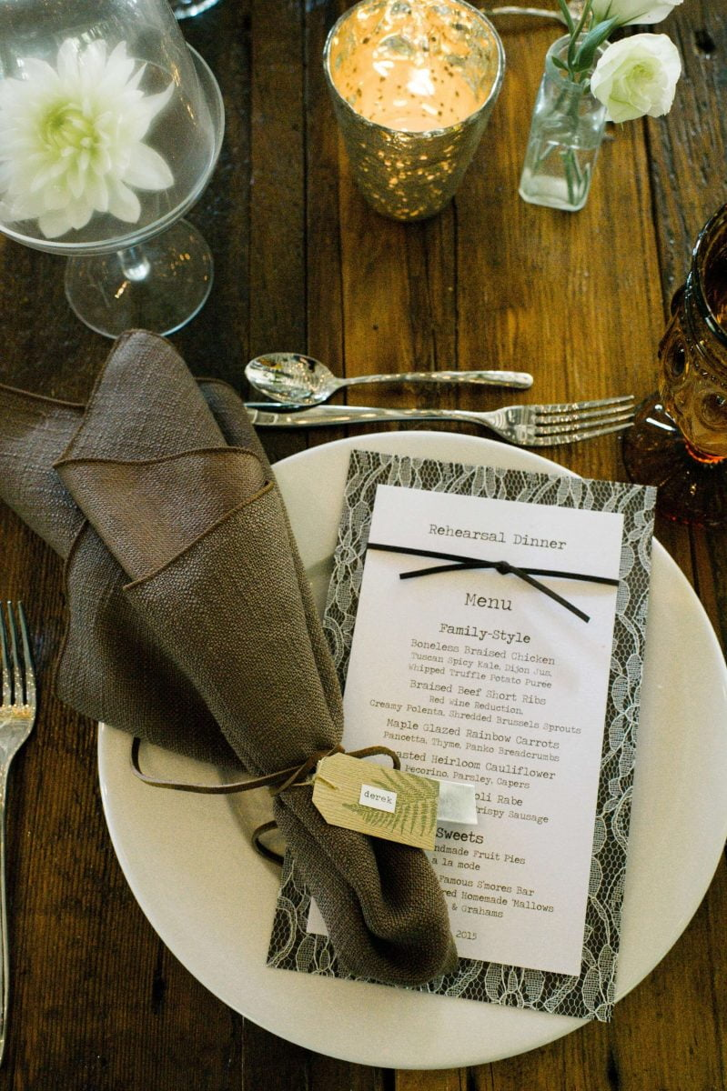 Shop Upstate NY Wedding Stephanie Karvellas Cocktail Hours Menu