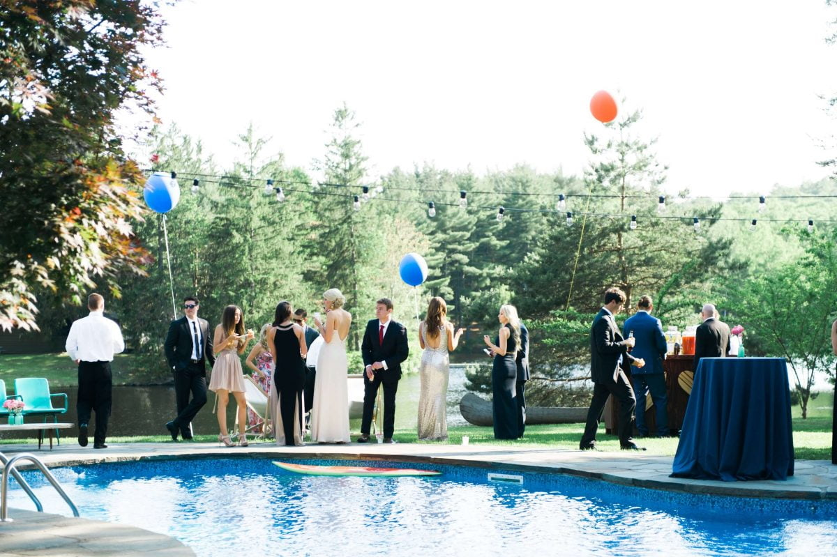 Shop Upstate NY Wedding Stephanie Karvellas Cocktail Pool