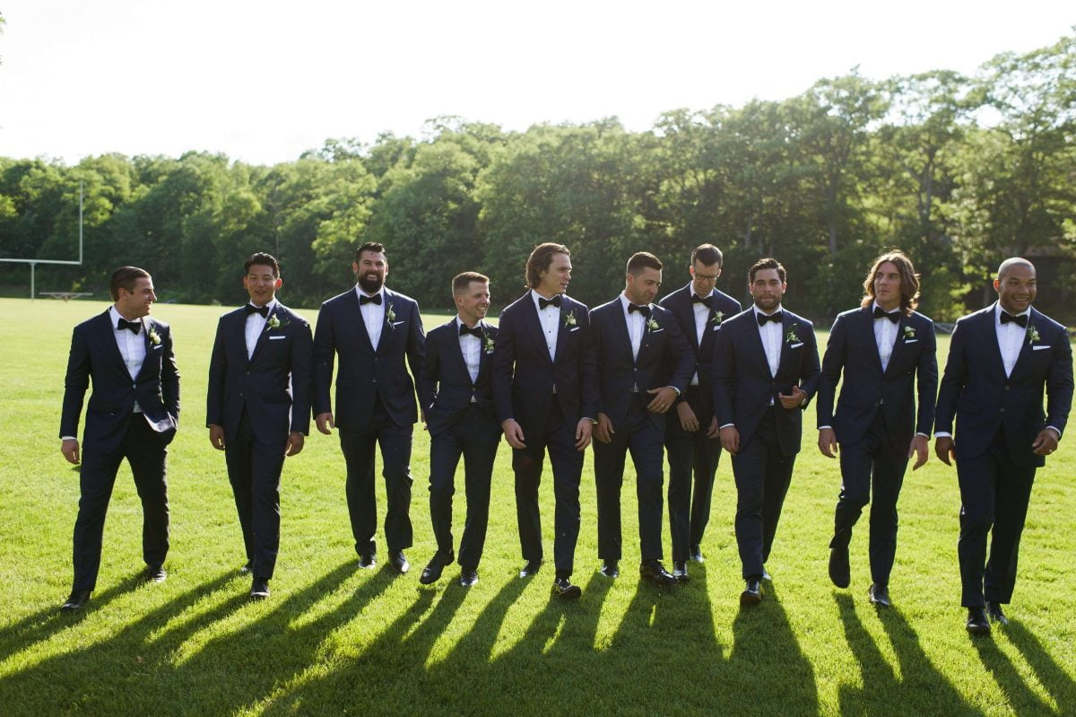 Shop Upstate NY Wedding Stephanie Karvellas Ceremony Groomsmen