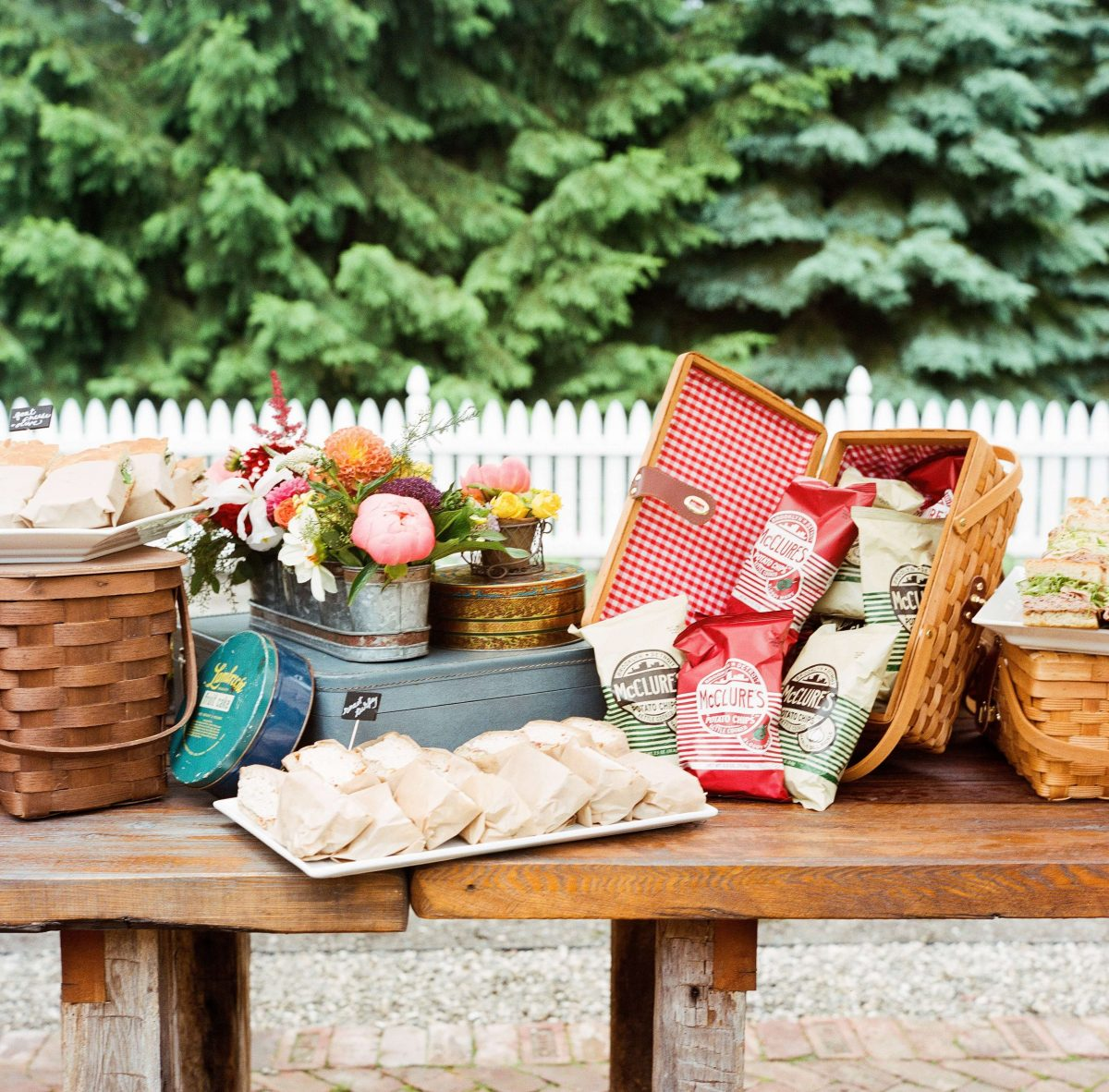 Shop Upstate NY Wedding Stephanie Karvellas Picnic Snacks