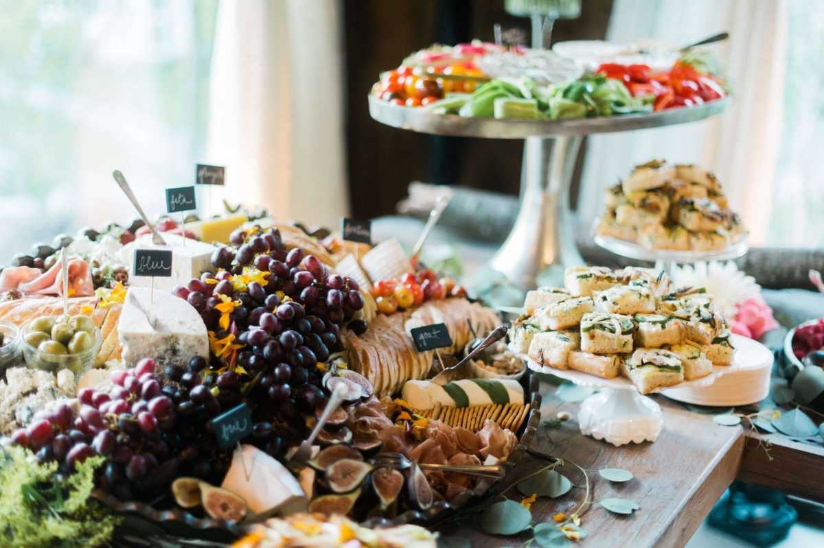 Shop Upstate NY Wedding Stephanie Karvellas Reception Appetizers