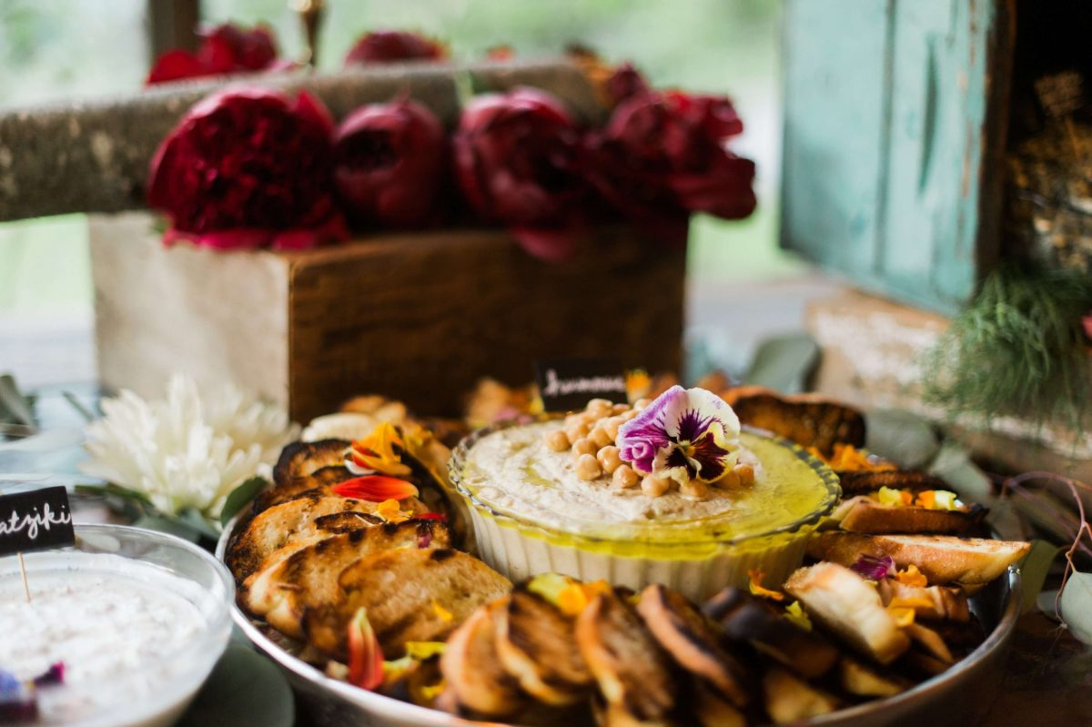 Shop Upstate NY Wedding Stephanie Karvellas Reception Dips