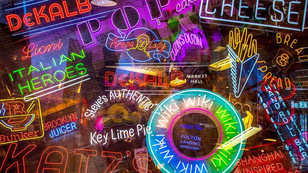 Shop Specialties Dekalb Market Hall Neon Lights