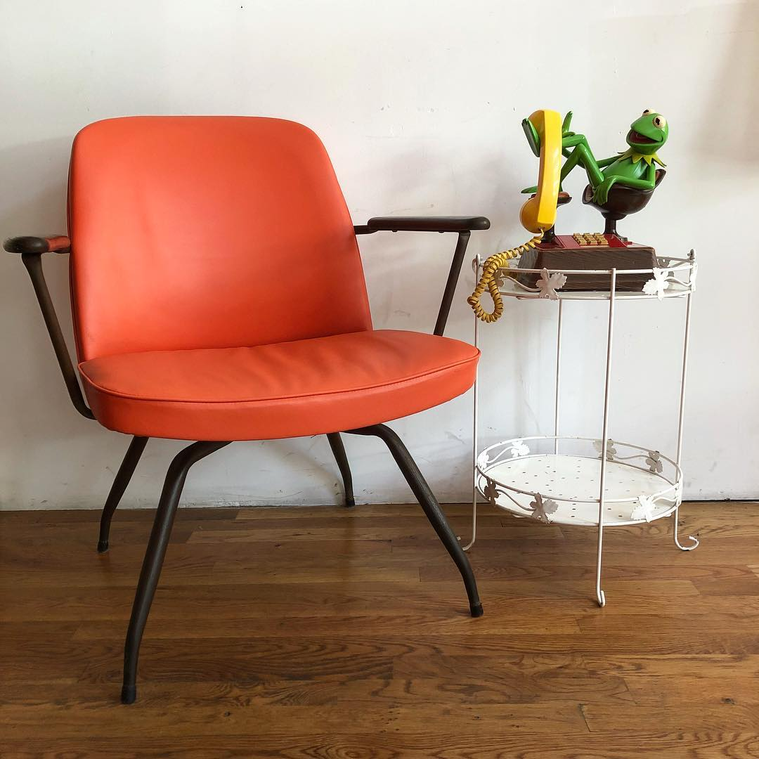 Curiosities Insider Interviews Kelley Louise Furnish Green Orange Chair