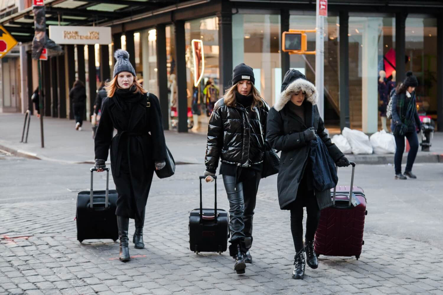Curiosities City Secrets LuggageHero NYC Girls Walking