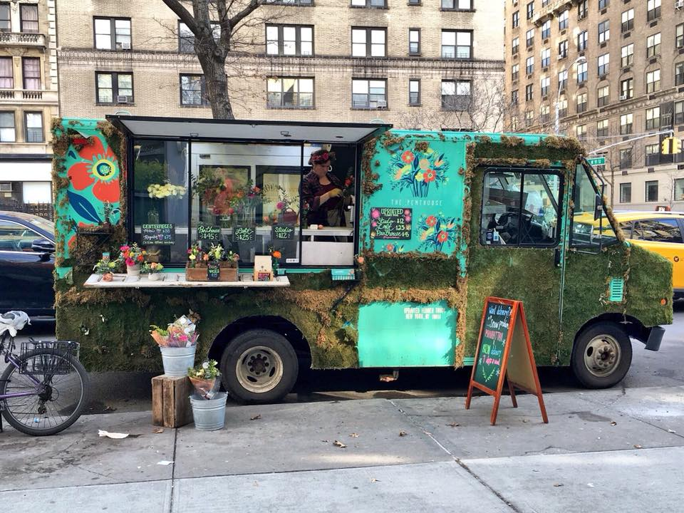 Shop Specialties UpRooted Flower Truck Parked Manhattan