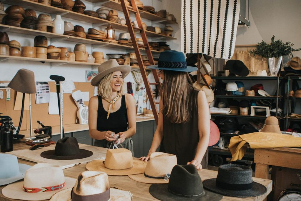 Shop Ladies and Gents Teressa Foglia Hats Fernanda Paronetto