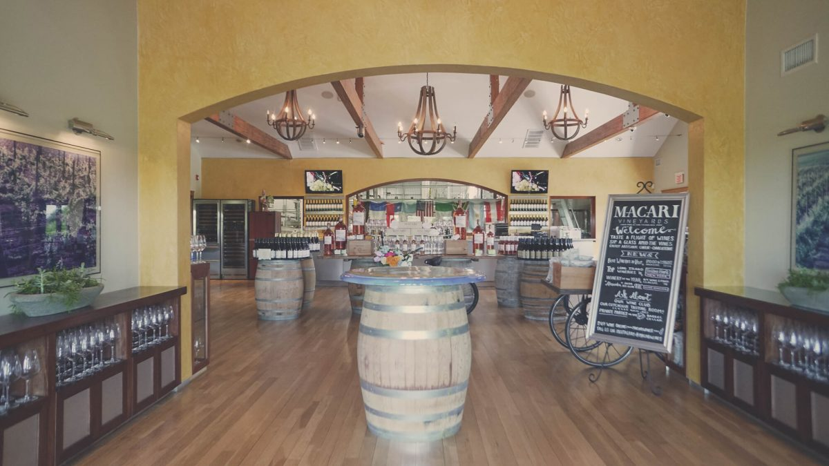 Day Trips and Travels Macari Vineyards Entrance