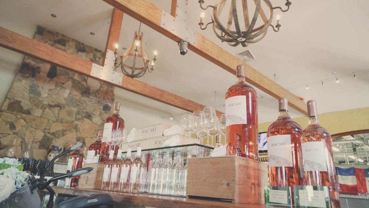 Day Trips and Travels Macari Vineyards Rose Bottles
